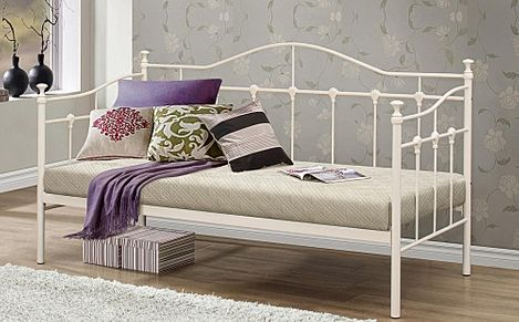 Torino Cream Metal Single Daybed