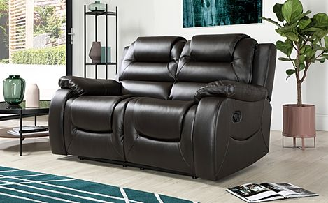 Vancouver 2 Seater Leather Recliner Sofa (Brown)