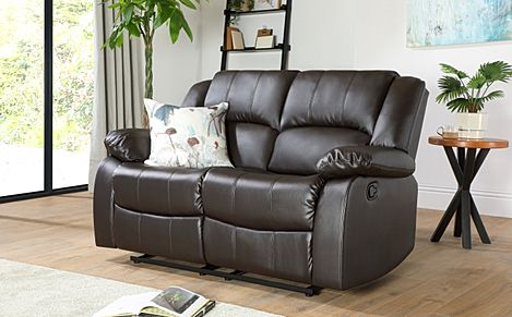 Dakota 2 Seater Leather Recliner Sofa - Brown