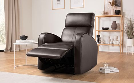 Ashby Brown Leather Recliner Armchair