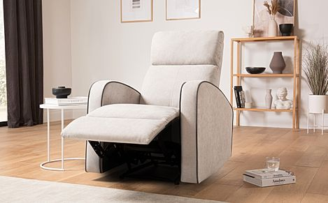 Ashby Dove Grey Plush Fabric Recliner Armchair
