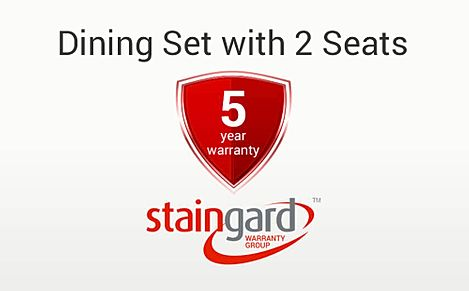 Protection Plus 5 Year Furniture Cover - Dining Set (with 2 Seats)