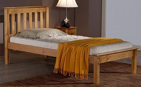 Denver Antique Pine Wooden Single Bed
