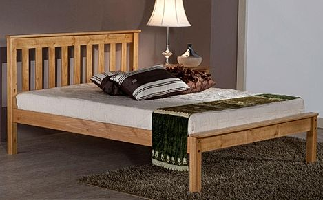 Denver Antique Pine Wooden King Size Bed
