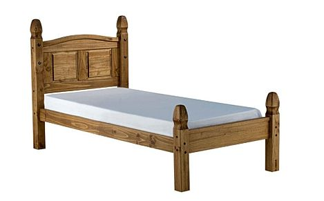 Corona Wooden Bed - Single - Low Foot End