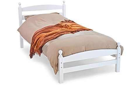 Moderna White Wooden Single Bed