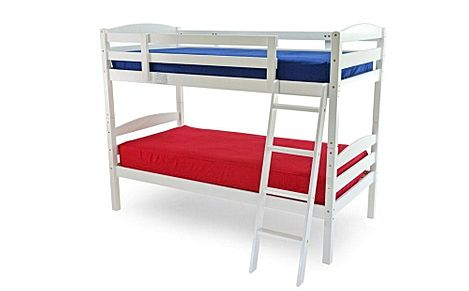 Moderna White Wooden Bunk Bed