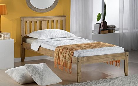 Salvador Pine Wooden Bed Single