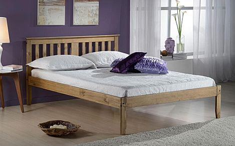 Salvador Pine Wooden Bed Double