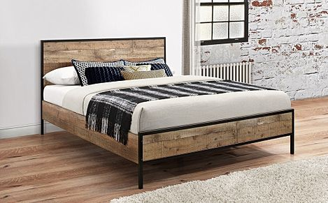 Urban Rustic Double Bed