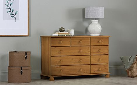 Evesham Pine 9 Drawer Chest of Drawers