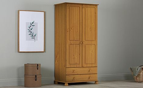 Evesham Pine 2 Door 2 Drawer Wardrobe