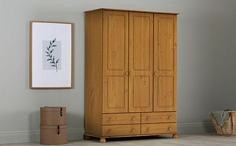 Steens Richmond Pine Wardrobe - 3 Door & 4 Drawers