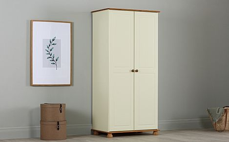 Evesham Cream and Pine 2 Door Wardrobe