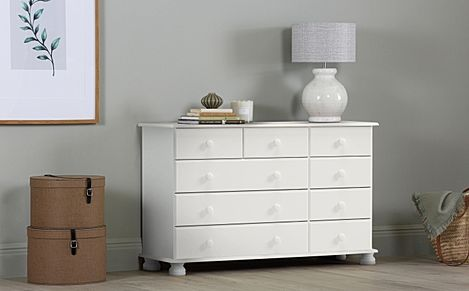 Evesham White 9 Drawer Chest of Drawers