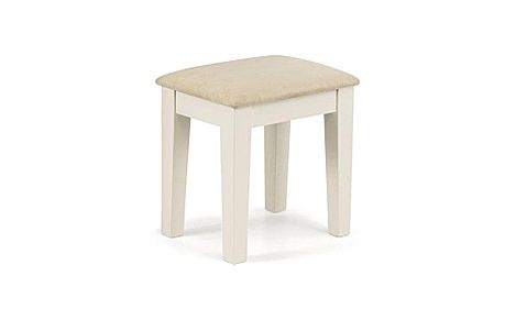 Portland Stone White Dressing Stool