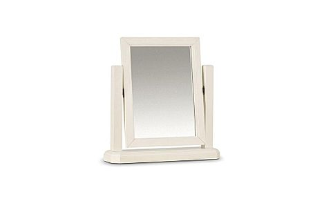 Portland Stone White Table Mirror