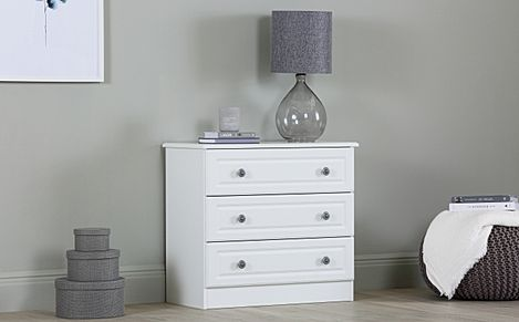 Pembroke White Chest Of Drawers 3 Drawer