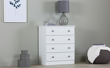 Pembroke White Chest Of Drawers 4 Drawer