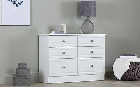 Pembroke White Midi 6 Drawer Chest Of Drawers