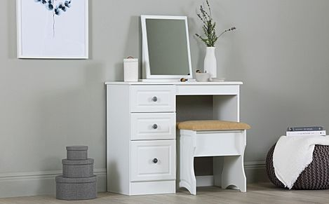 Pembroke White Dressing Table 3 Drawer