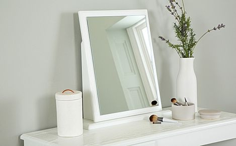 Pembroke White Small Dressing Table Mirror