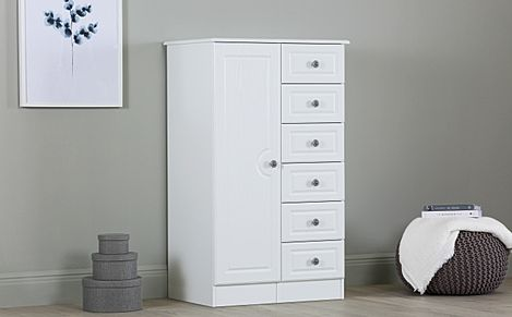 Pembroke White 1 Door Wardrobe