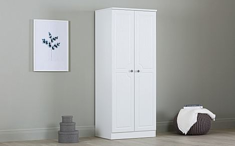 Pembroke White 2 Door Wardrobe
