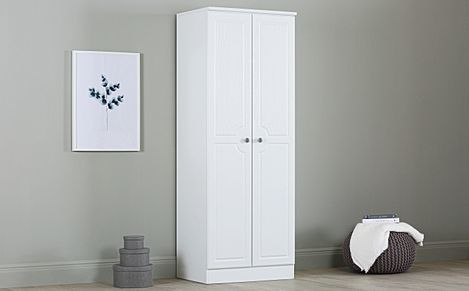 Pembroke White Tall Double Wardrobe