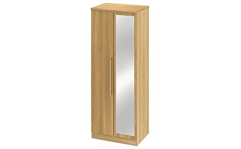 Sherwood Modern Oak Double Mirrored Wardrobe