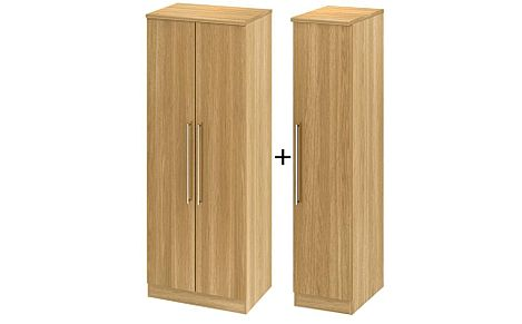 Sherwood Modern Oak 3 Door Wardrobe