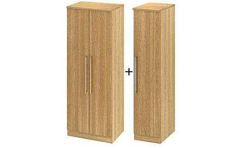 Sherwood Modern Oak Tall 3 Door Wardrobe
