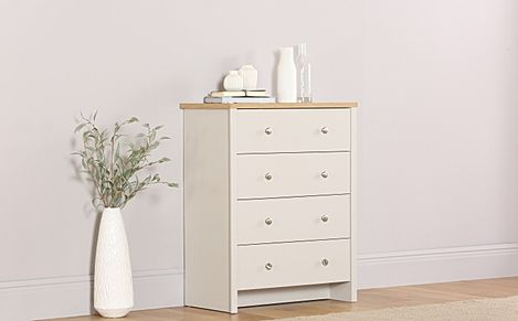 Ashworth Putty & Oak 4 Drawer Chest of Drawers