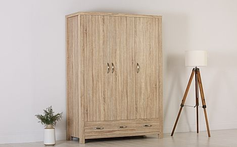 Lindley Sonoma Oak 3 Door 2 Drawer Wardrobe