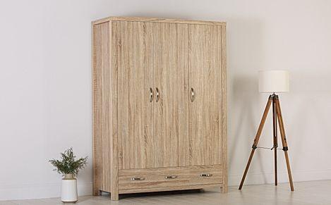 Lindley Sonoma Oak 3 Door 2 Drawer Wardrobe