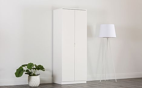 Serene White High Gloss 2 Door Wardrobe