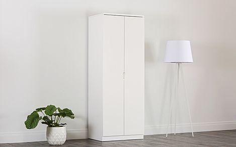 Serene White High Gloss 2 Door Wardrobe
