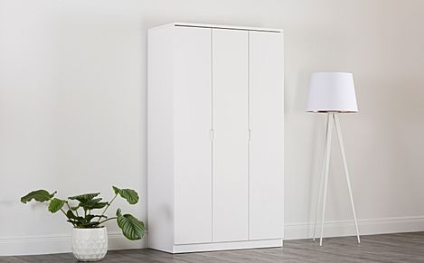 Serene White High Gloss 3 Door Wardrobe