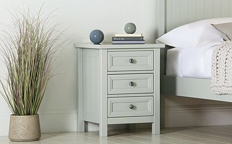Dorset Dove Grey 3 Drawer Bedside Table