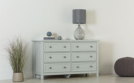 Dorset Dove Grey Wide 6 Drawer Chest of Drawers