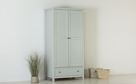 Dorset Dove Grey 2 Door 1 Drawer Wardrobe