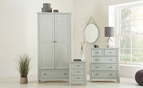 Dorset Dove Grey 3 Piece 2 Door Wardrobe Bedroom Furniture Set