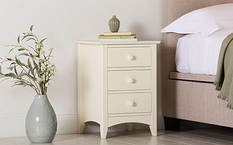 Chatham Stone White 3 Drawer Bedside Table