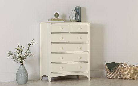 Chatham Stone White 6 Drawer Chest of Drawers