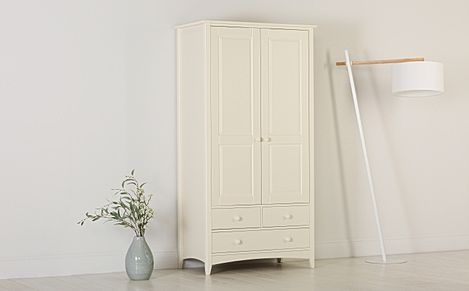 Chatham Stone White 2 Door 3 Drawer Wardrobe