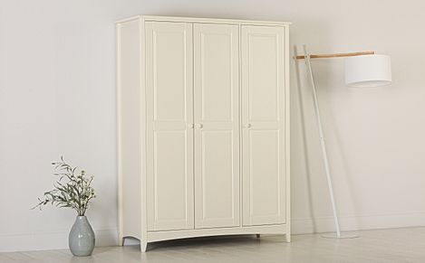 Chatham Stone White 3 Door Wardrobe