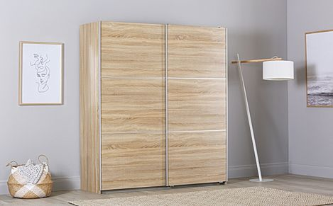 Rauch Palmela Oak 2 Door Sliding Wardrobe 175cm