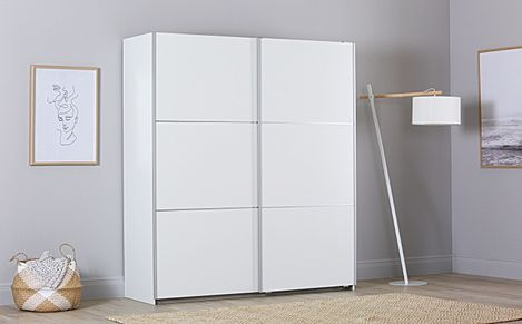 Rauch Palmela White 2 Door Sliding Wardrobe 175cm