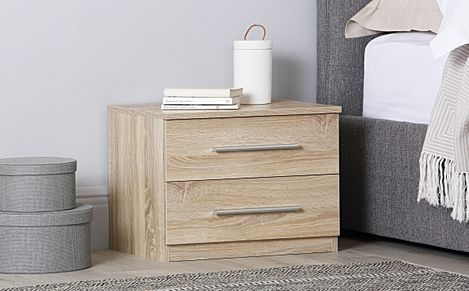 Rauch Vereno Oak 2 Drawer Bedside Table