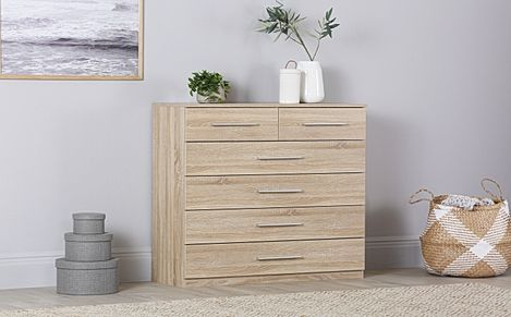 Rauch Vereno Oak 6 Drawer Chest of Drawers
